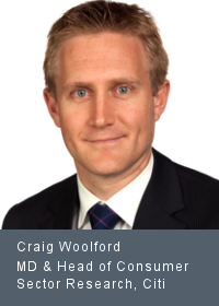 Craig Woolford Managing Director & Head of Consumer Sector Research, Citi