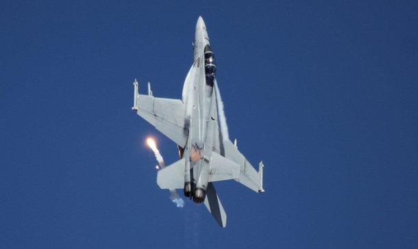 A RAAF F/A-18 Super Hornet at Avalon Air Show 2017. Credit: Defence