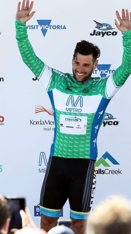 Jake Kauffmann, riding for the NSWIS team, won the sprint jersey at the 2017 Jayco Herald Sun Tour. Image: Supplied.