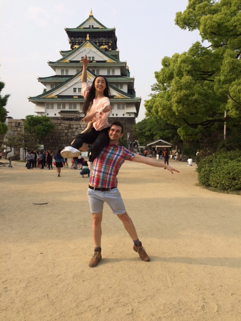 Michael Pappalardo and Yuiko Masukawa (Melbourne City Youth Ballet's artistic director) in Osaka, Japan.