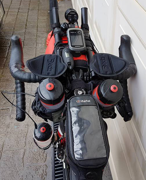 The business end of Paul Ardill's Giant TCX he'll be using for the IPWR.Image: Supplied.