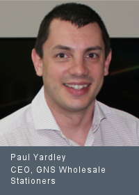 Paul Yardley CEO, GNS Wholesale Stationers