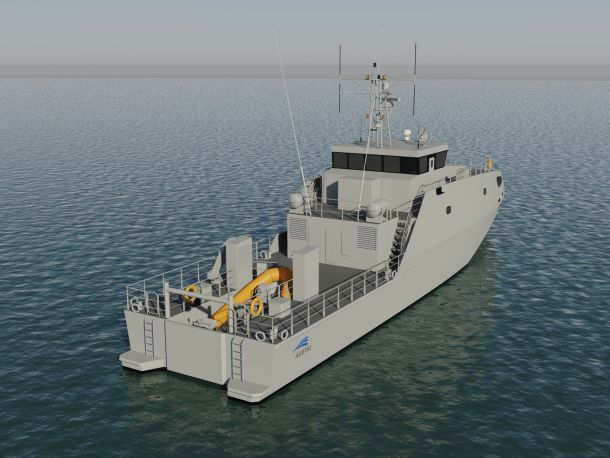Artist's render of the PPB design. Credit: Austal