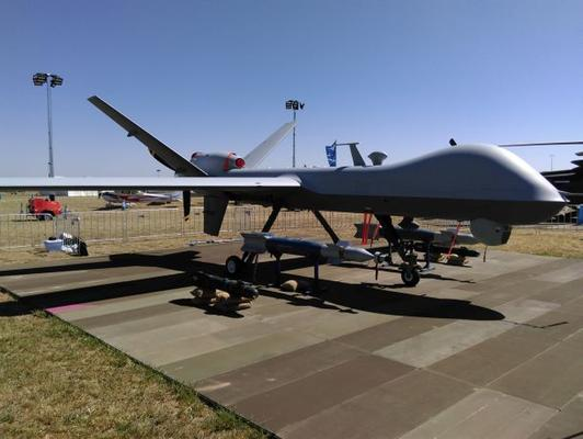 GA-ASI's MQ-9 on display at Avalon 2017. Credit: ADM Patrick Durrant