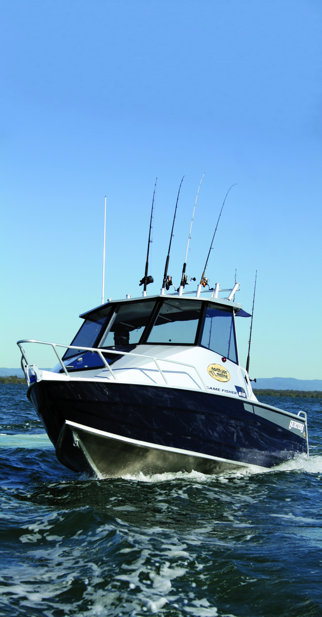 The deep V and ballast system will keep you dry, provide a soft ride and create a stable fishing platform.