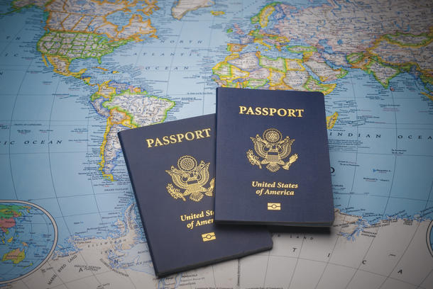 Keep passports and important documents in a safe, secure, hidden place.