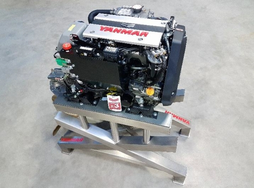 The Yanmar 3JH40, billed as the world's smallest CR diesel engine.