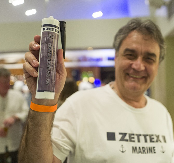 Serge Popovich from Acrylic Technologies Australia introducing the Zettex products at the Beneteau Cup.