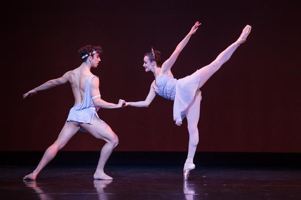 Jade Wood and Marcus Morelli in 'Diana and Acteon'. Photo: Daniel Boud.