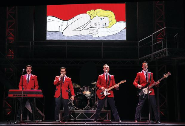 B - JERSEY BOYS - From left - Thomas McGuan as Bob Gaudio, Ryan Gonzalez as Frankie Valli, Cameron McDonald as Tommy Devito and Glaston Toft as Nick Massi