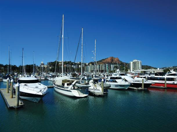 The safe Breakwater Marina.
