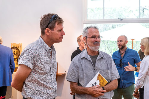 SWA members Darren Oates (left) with Leon Sadubin, one of SWA's founding members. Photo: Julijana Griffiths