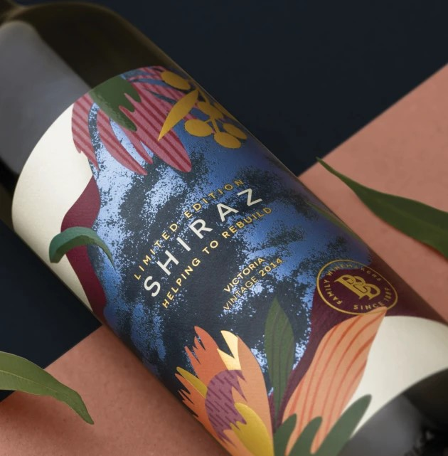 Blaze support: CCL printed label on Brown Bros Shiraz