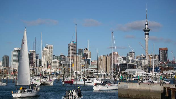 Yachts make their way into Westhaven Marina on Auckland's waterfront. Photo / Peter Meecham.
