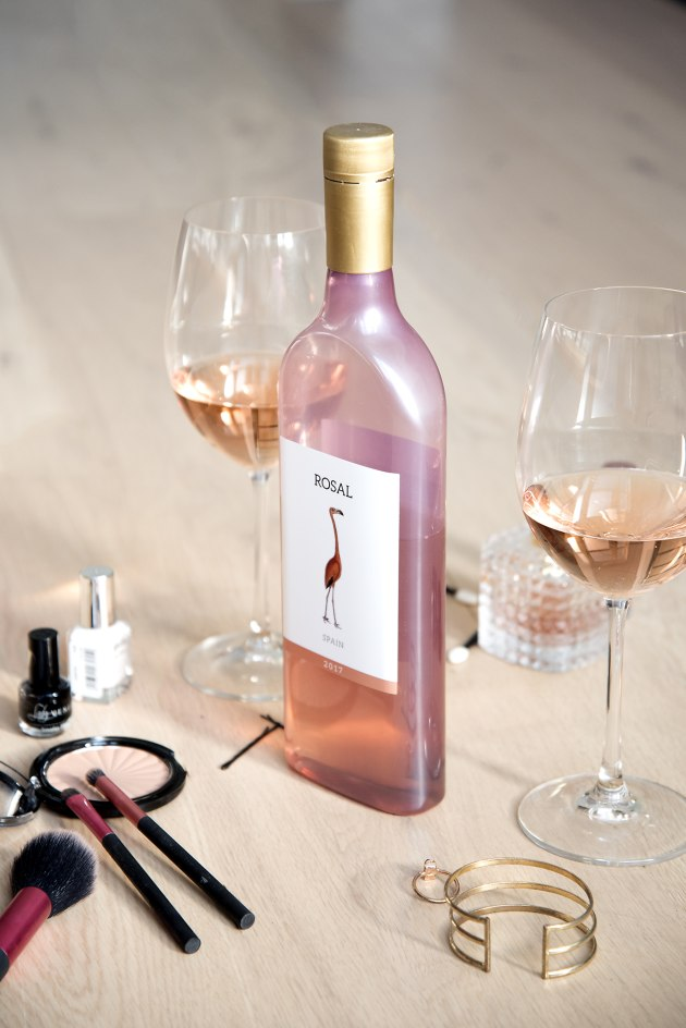 The eco, flat bottles are made from 100 per cent recycled PET. Source: Garçon Wines.