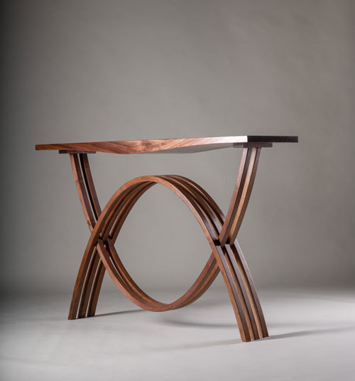 Hall Table, Steve Wise, American walnut