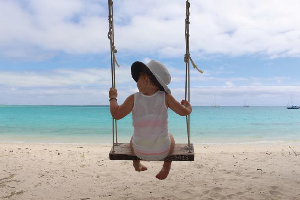 Swinging in the breeze.