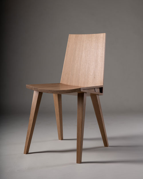 Jut Wedge Chair, Ben Alden, American white oak