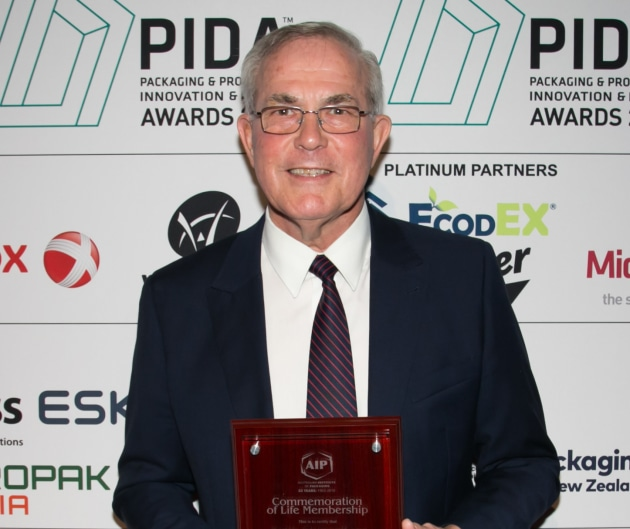 Keith Chessell pictured after receiving an AIP Life Membership in 2018.