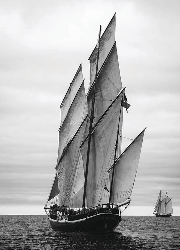 Three masted lugger.