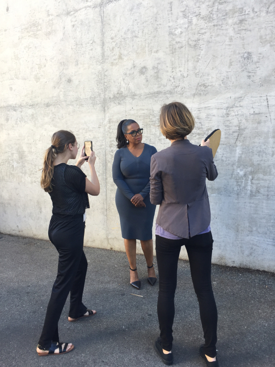 Behind the scenes on the TIME shoot. Luisa Dörr, left, shoots Oprah Winfrey in Los Angeles, October 2016. Photo courtesy Time magazine.
