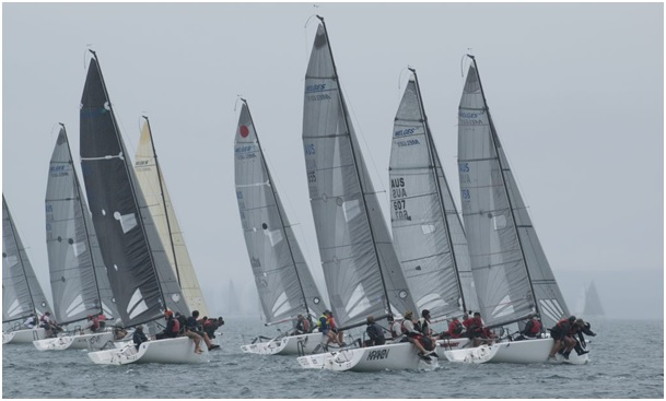 Melges-24s-on-the-start-line-in-Port-Lincoln last year---Ally-Graham