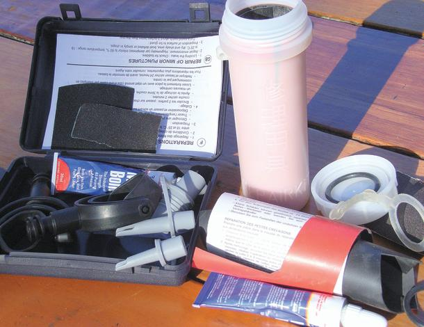 Samples of repair kits.