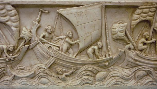 A Roman/Greek cargo ship.