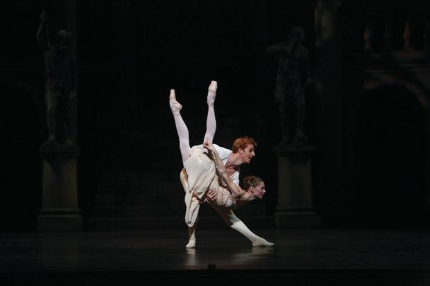 Principal dancer of the Royal Ballet Steven McRae as Romeo and Natasha Kusch, then QB principal, as Juliet in QB's 'Romeo and Juliet' (2014). Photo: David Kelly.