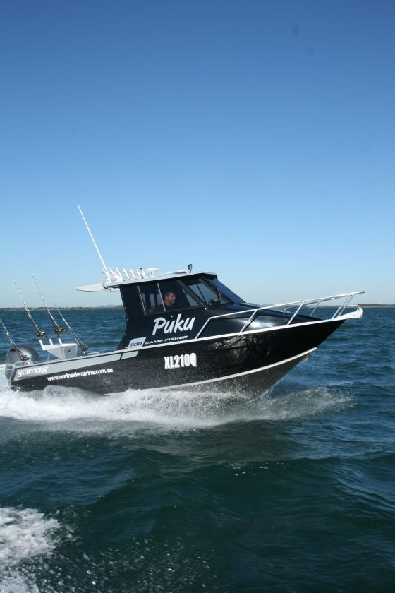 With a 20 degree deadrise and its large size, the 700 is a very capable offshore fishing boat.