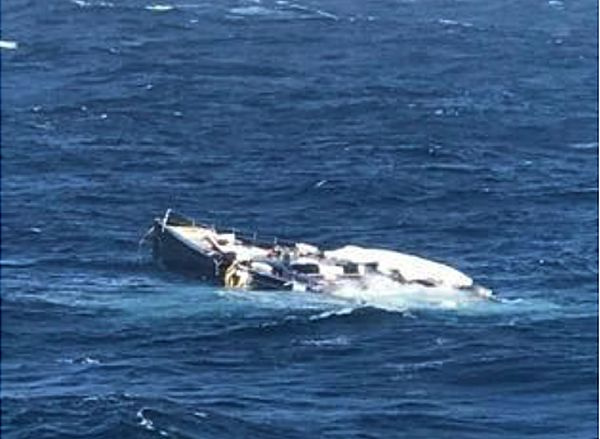 My Song yacht after she fell off a cargo ship. Photo: Pressmare.