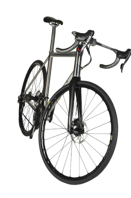 The classic slender tube aesthetic of a metal frame with the svelte finish of internal routing.