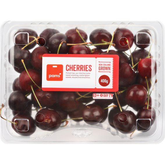 PIDA 2020 Labelling & Decoration Category and Sustainable Packaging Design Special Award finalist: UPM Raflatac & Kiwi Labels for the CUSTOM-PAK rPET Cherry Punnet with self-adhesive label, permanent adhesive that is also washable at the PET recycling plant