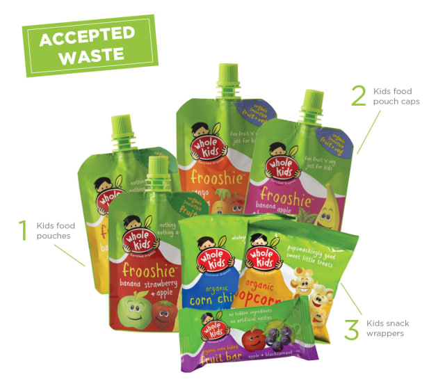 Whole Kids has established a partnership with Terracycle to upcycle packaging waste from its products.