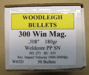 Woodleigh .300 Win. Mag. 180gn PP SN