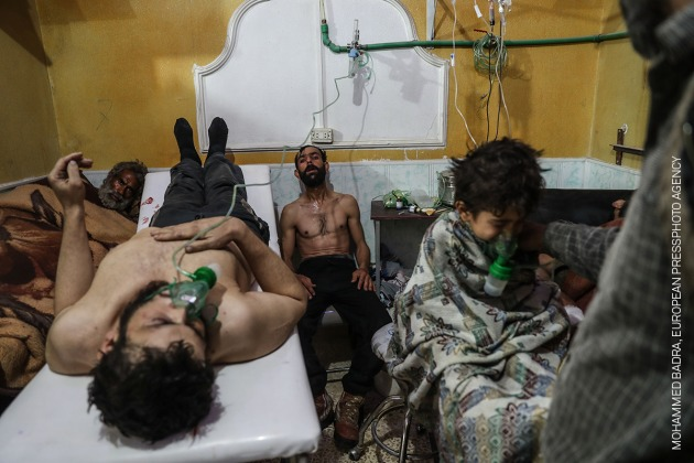 Victims of an Alleged Gas Attack Receive Treatment in Eastern Ghouta. © Mohammed Badra, European Pressphoto Agency