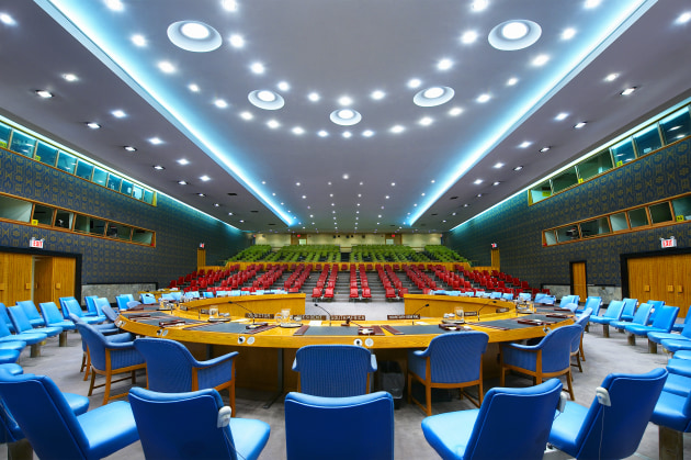 © Luca Zanier. UN Security Council I, New York (2008). Whenever world peace is threatened the UN Security Council convenes in this chamber.