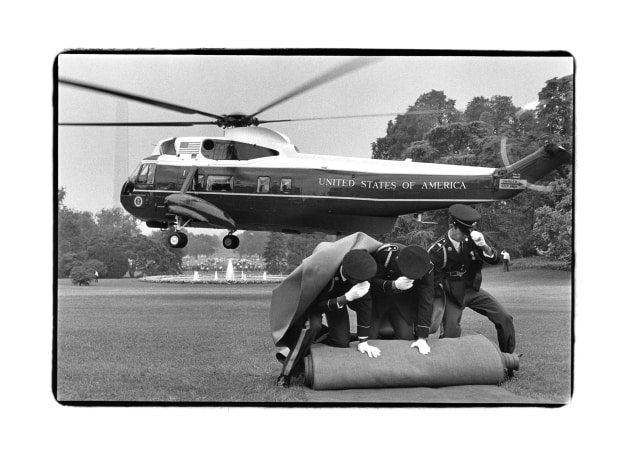Richard Nixon Leaving the White House, Washington, D.C., 1974. © Annie Leibovitz. From 'Annie Leibovitz At Work' (