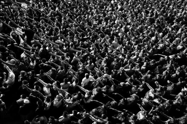 WINNER: WORLD PRESS PHOTO STORY OF THE YEAR. © Romain Laurendeau, France. Kho, the Genesis of a Revolt. Football fans sing during a championship match in the 5 July 1962 Stadium in Algiers, Algeria, on 22 December 2015.