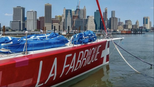 Alan Roura's stand-by in New York. Photo © Team La Fabrique