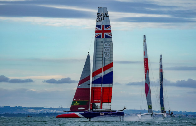 Racing in Cowes last month. Photo credit: Bob Martin for SailGP
