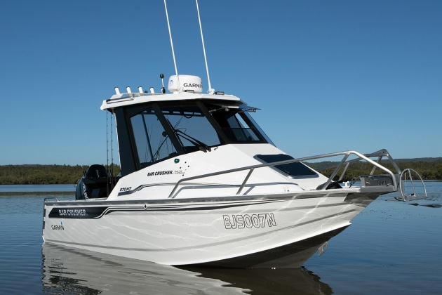 Bar Crusher's 670HT has an imposing presence on and off the water. It looks – and is – all business.