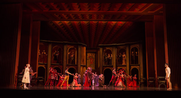 Queensland Ballet performing Kenneth MacMillan's Romeo and Juliet. Photo: David Kelly.
