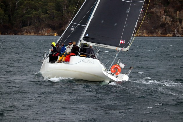 Philosopher,  winner of both the IRC and AMS rating divisions of the Bruny Island Race. Photo Jacinta Cooper.