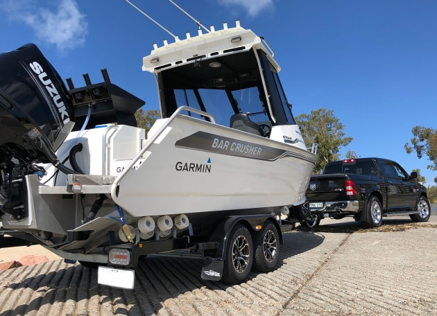 A custom-designed trailer and Bar Crusher's innovative Bar Catch system delivers hassle-free towing and single-handed launching and retrieving. It's standard with every Bar Crusher boat.
