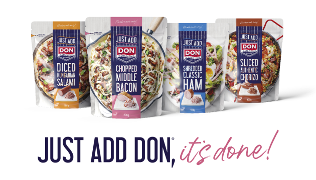 PIDA 2019 Finalist, Food category: Don KRC, a Division of George Weston Foods, for Just Add Don convenient stand-up pouch.