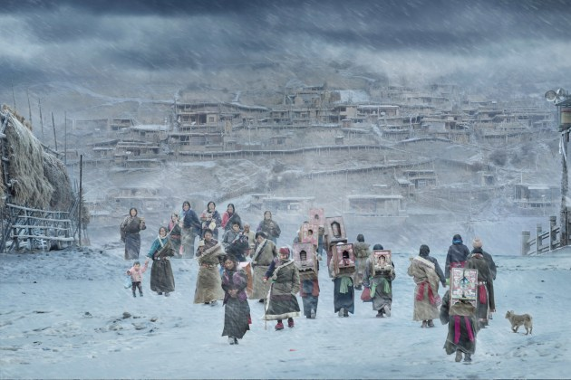 HE JIAN, CHINA - WINNER, HOT/COLD SINGLE IMAGE CATEGORY. Gannan, China. The local people who walked on the pilgrimage road were pious and pure. Nikon D800, f9, 1/640s, ISO 1000.