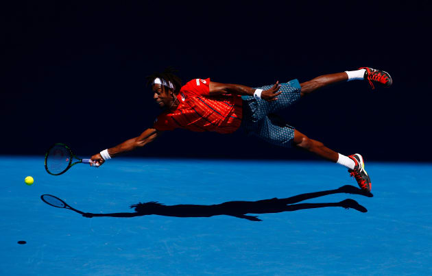 'Superman' - Gael Monfils dives at Australian Open 2016.