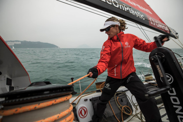Carolijn Brouwer, winner of the Magnus Olsson Prize. Photo Dongfeng Race Team.