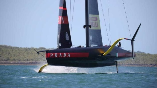 Luna Rossa's backstays in full display on day one of the Prada Cup in Auckland. Photo RICKY WILSON/STUFF.